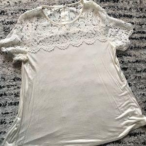 Lace shirt.